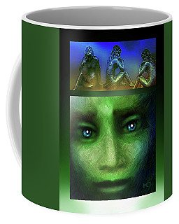 The Sadness Of Gaia Coffee Mug by Hartmut Jager