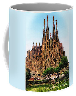 Coffee Mug featuring the photograph The Sagrada Familia by Sue Melvin