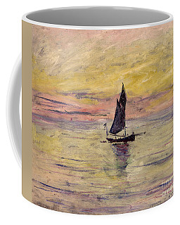 The Sailing Boat Evening Effect Coffee Mug