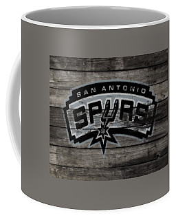 Coffee Mug featuring the mixed media The San Antonio Spurs 3a by Brian Reaves