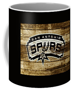 Coffee Mug featuring the mixed media The San Antonio Spurs 3b by Brian Reaves