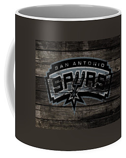 Coffee Mug featuring the mixed media The San Antonio Spurs 3e by Brian Reaves
