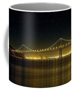 The San Francisco Oakland Bay Bridge At Night Coffee Mug
