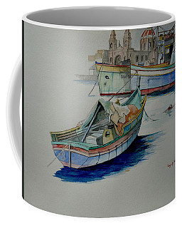 Coffee Mug featuring the painting The San George by Ray Agius