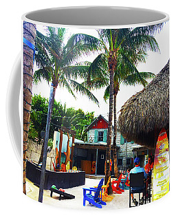 Coffee Mug featuring the photograph The Sand Bar by Beth Saffer