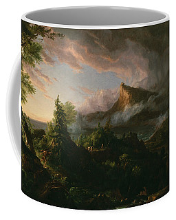 Coffee Mug featuring the painting The Savage State by Thomas Cole