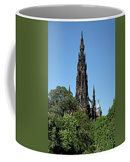 Coffee Mug featuring the photograph The Scott Monument In Edinburgh, Scotland by Jeremy Lavender Photography