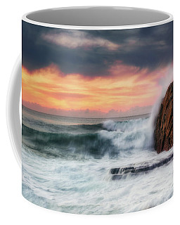 The Sea Against The Rock Coffee Mug