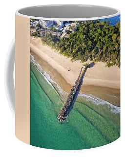 Coffee Mug featuring the photograph The Sea Wall Near Noosa Main Beach by Keiran Lusk