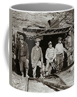 The Search And Retrieval Team After The Knox Mine Disaster Port Griffith Pa 1959 At Mine Entrance Coffee Mug