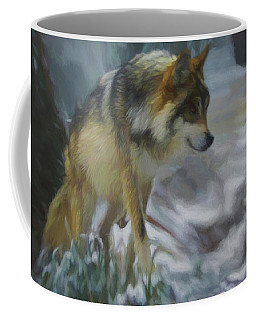 The Searching Wolf Coffee Mug by Ernie Echols
