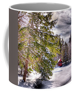Coffee Mug featuring the photograph The Secluded Boathouse by David Patterson