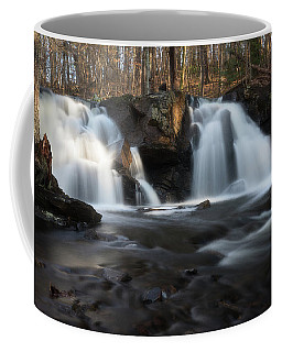 The Secret Waterfall In Golden Light Coffee Mug