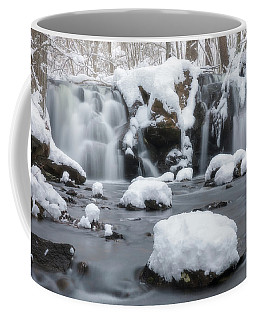 Coffee Mug featuring the photograph The Secret Waterfall In Winter 1 by Brian Hale