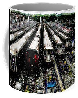 The Seven Train Yard Queens Ny Coffee Mug by Iowan Stone-Flowers
