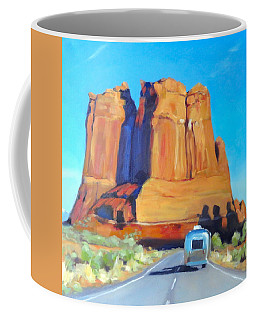 The Shadow Of The Three Gossips Arches Utah Coffee Mug