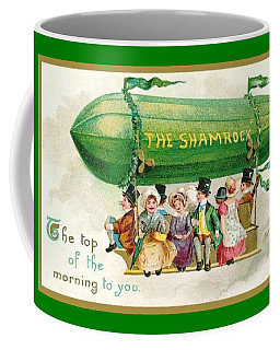 The Shamrock Top Of The Morning To You St Patricks Day Zeppelin Coffee Mug by Peter Gumaer Ogden