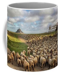 The Sheep Of Mont Saint Michel Coffee Mug