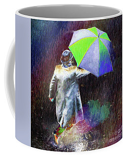 Coffee Mug featuring the photograph The Sheer Joy Of Puddles by LemonArt Photography