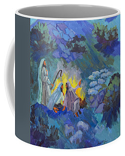 Coffee Mug featuring the painting The Shepherds by Diane McClary
