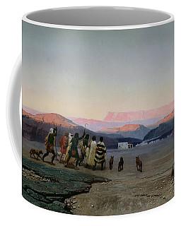 The Shepherds Led By The Star Arriving At Bethlehem Coffee Mug