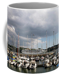 Coffee Mug featuring the photograph Ship Comes In To Belem by Lorraine Devon Wilke
