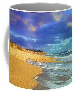 The Shoreline At Half Moon Bay Coffee Mug