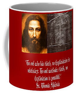 The Shroud Of Turing And Picture Of Jesus Coffee Mug