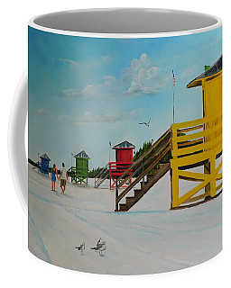 The Siesta Key Lifeguard Stands Coffee Mug