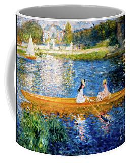 Renoir Boating On The Seine Coffee Mug