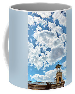 Coffee Mug featuring the photograph The Sky Above The Towers Of Montjuic by Eduardo Jose Accorinti