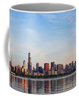The Skyline Of Chicago At Sunrise Coffee Mug