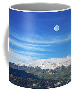 The Skyscraper That Towers Over My Hometown Reaches The Clouds At 14115 Feet Above Sea Level.  Coffee Mug
