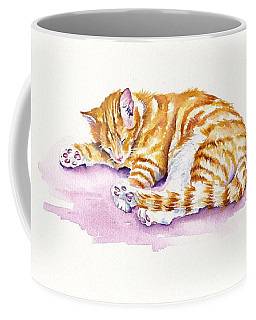 The Sleepy Kitten Coffee Mug
