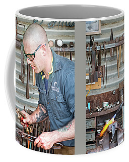 Coffee Mug featuring the photograph The Smithy by Linda Lees