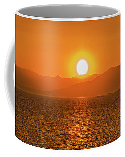 The Smoke From A Forest Fire Gave Us This Tangerine Sky Over 11-mile Reservoir State Park, Colorado. Coffee Mug
