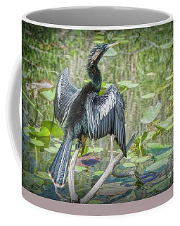 Coffee Mug featuring the painting The Snake Bird by Judy Kay