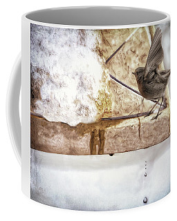 Coffee Mug featuring the photograph The Snow Melts by Pennie  McCracken