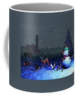 The Snowman's Visitors Coffee Mug