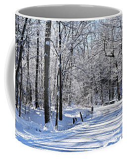 The Snowy Road 1 Coffee Mug