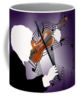 Coffee Mug featuring the sculpture The Soloist by Steve Karol