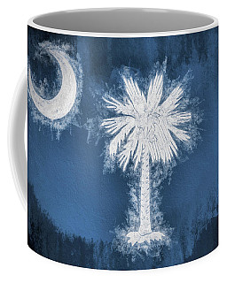 Coffee Mug featuring the digital art The South Carolina Flag by JC Findley