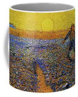 Coffee Mug featuring the painting The Sower by Van Gogh