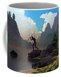 The Spear Fisher Coffee Mug by Daniel Eskridge