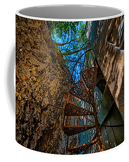 Coffee Mug featuring the photograph The Spiral Staircase Of The Abbandoned Children Summer Vacation Building - La Scala A Chiocciola Del by Enrico Pelos