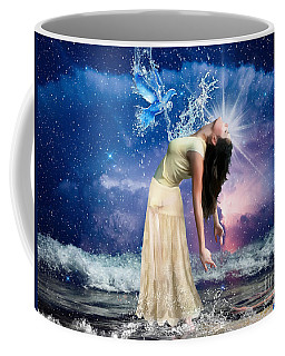Coffee Mug featuring the digital art The Spirit Of Truth by Dolores Develde
