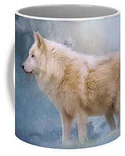 The Spirit Within - Arctic Wolf Art Coffee Mug