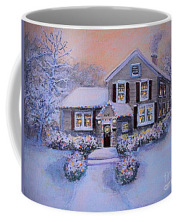 Coffee Mug featuring the painting The Stanton Homestead by Rita Brown