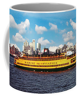 The Staten Island Ferry Around 1973 Coffee Mug by Kai Saarto