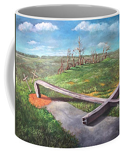 Millsfield Tennessee Steel Cross Coffee Mug by Randy Burns